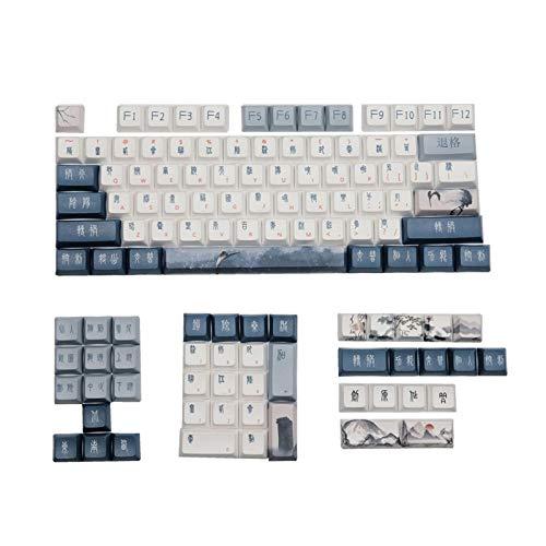 juqingshanghang1 Design Altes chinesisches Zeichen Keycaps für mechanische Gaming-Tastatur DSA PBT-Schlüsselkappen (Color : Grus Japonensis)
