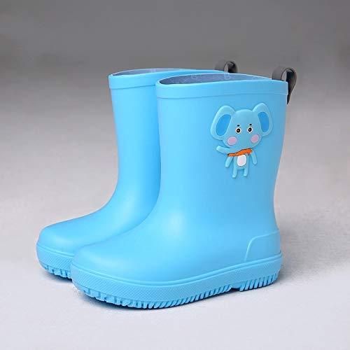 Regenstiefel Für Kinder,Blue Elephant Warmen Wasser Stiefel Baby Wasser Rutschfeste Schuhe Wasserdichte Kinder Wellington Verschleißfeste Regen Stiefel Für Schule Wandern Outdoor Jungen Mädchen 32