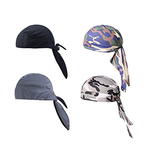 Lazz1on Pañuelo Cabeza Sombreros de Ciclismo de Secado Rápido Deportes al Aire Libre Bicicleta Cap Bufanda de Transpirable Protección UV Gorro