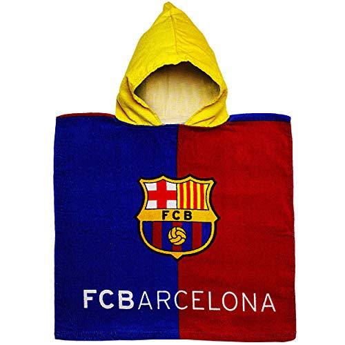 alles-meine.de GmbH Badeponcho / Kapuzenhandtuch - Fußball - FC Barcelona - FCB - 100 % Baumwolle - 50 cm * 105 cm - 2 bis 6 Jahre Poncho - mit Kapuze - Frottee / Velours - Handt..