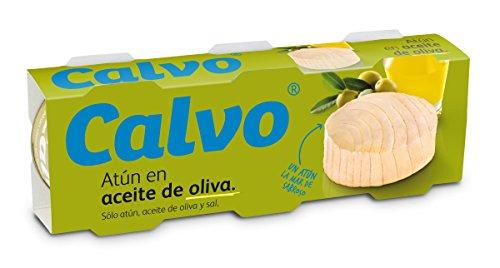 Calvo Atún en Aceite de Oliva, 3 x 52g