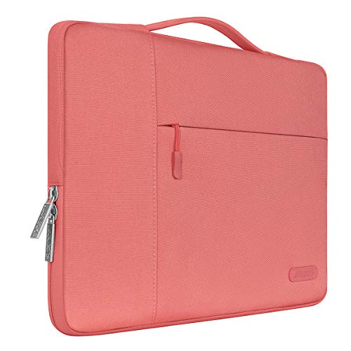 MOSISO Laptop Sleeve Borsa Compatibile con MacBook PRO Air 13 Pollici, 13-13,3 Pollici Notebook Computer, Poliestere Multifunzionale Manica, Living Coral