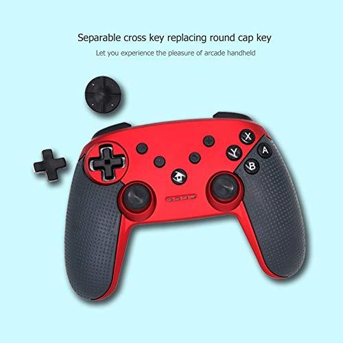 MUMUWU Bluetooth Wireless Gamepad Télécommande Manette de Console de Jeu Pad poignée 2 Couleur (Color : Red 2pcs, Size : A)