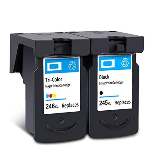 Cartucho de tinta remanufacturado PG245 CL246, Reemplazo Negro y color para Canon PG245 CL246 Para usar con Canon MG2400 MG2500 IP2880 Impresora Black and color