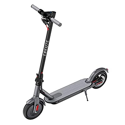 ESKUTE Electric Scooter, 350W Motor, 270Wh 36V 7.5Ah Battery, up to 17 Mile Range and 15 Mph Electric Scooter for Adults with Double Brake, ES1