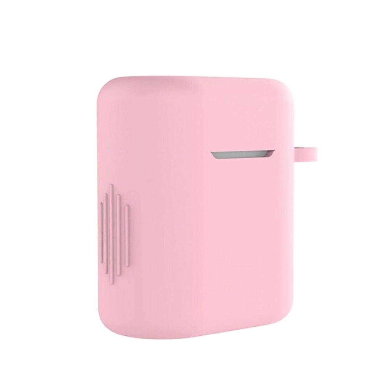 はずぐったり植物のQiyuezhuangshi001 ヘッドフォンカバー、ワイヤレスBluetoothヘッドセット、液体シリコン非汚染アンチロスト収納ボックス、[アンチロストロープ+フック+バブルペースト+収納袋を送る] 絶妙な (Color : Pink)