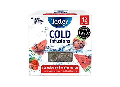 Tetley Cold Infusions Fresa y Sandía 12 Bolsas