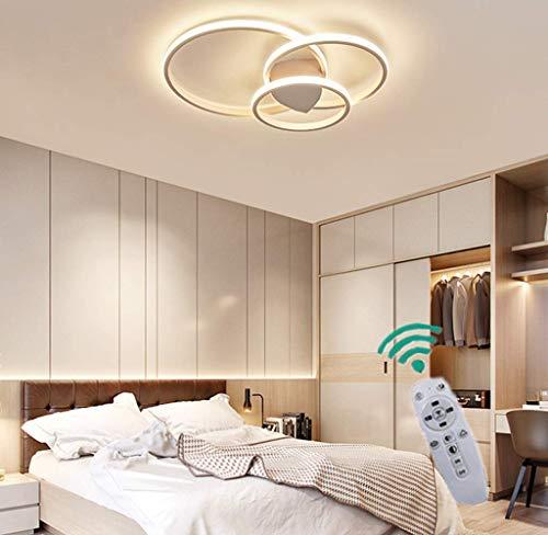 HZJ Circulaire plafonnier LED Ronde Plafond en Aluminium léger plafonnier Simple Dimmable (plafonnier à Trois Anneaux) Acrylique Ombre Manger Lampe Salon Chambre Salle à Manger L,Klein: 90 * 20 cm