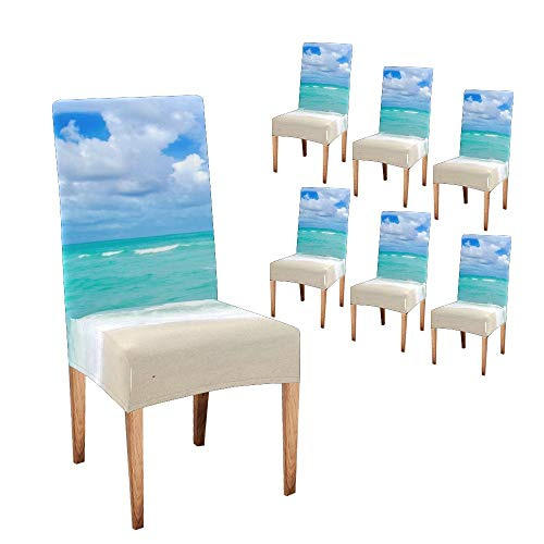 Anneunique Chair Covers for Dining Room,CustomSandy Best Mom Protector Comfort Soft Seat Covers Slipcovers for Party Decor (Set of 6)