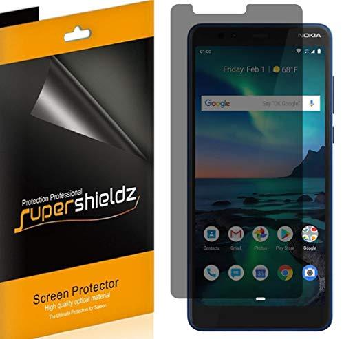 (2 Pack) Supershieldz (Privacy) Anti Spy Screen Protector Shield Designed for Nokia 3.1 Plus (US Cricket Wireless Version)