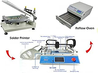 GOWE Solder Paste Printer + Pick and Place Machine + Reflow Oven Small SMT Production line, Discount!