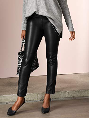 Alba Moda Damen Lederhose in Schwarz