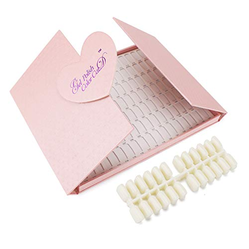 Segbeauty® 126 Farbe Professionelle Nagelfarbkarte und 144 Gefälschte Nagelspitzen, Nagelgel Polieren Grafikkarte Buch, Nagelkunst Salon Nageldesign Broschüre Anzeigen