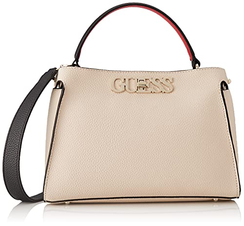 Guess, Uptown Chic Turnlock Satchel para Mujer, Sml, Talla única