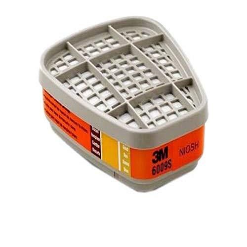 3M Safety 6009S Mercury Vapor/Chlorine/Sulfur Dioxide Gas Cartridge (Pack of 2)