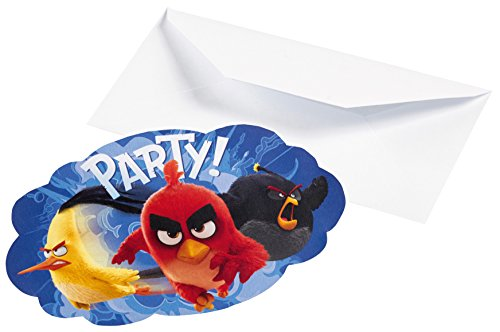 amscan - 9900935 - 8 Invites Angry Birds