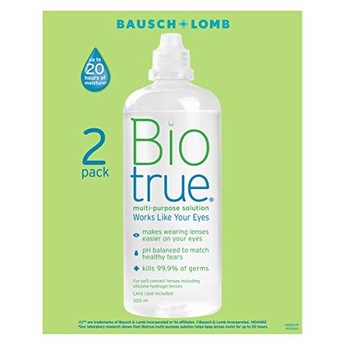 Bausch und Lomb Biotrue Kontaktlinsen-Pflegemittel Kombilösung weiche Kontaktlinsen, 2er Pack 2 x 300 ml
