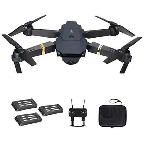 EElabper Drone Quadcopter E58 WiFi FPV Quadcopter Mini Plegable Drone 4K Ayuda de Las cámaras de Retorno automático con 3Batteries