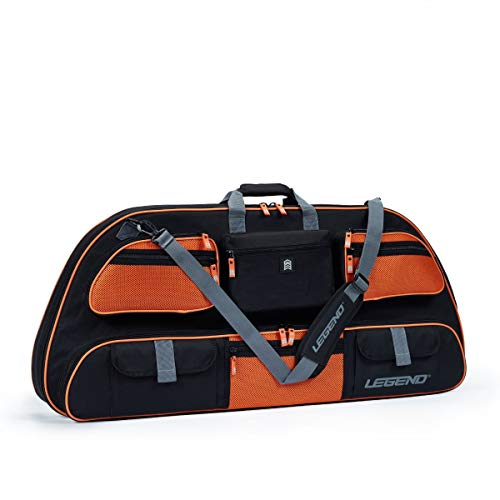 Legend - Apollo 40 Compound Bow Case (40' Inside Length) | Unrivaled Bow and Archery Equipment Protection in a Lightweight Portable Carrying Case | Pockets for All Your Accessories | (Black/Orange)