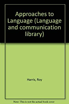Hardcover Approaches to Language (Language & Communication Library) Book
