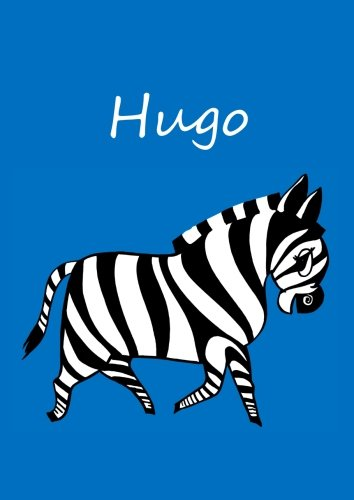 individualisiertes Malbuch / Notizbuch / Tagebuch - Hugo: Zebra - A4 - blanko