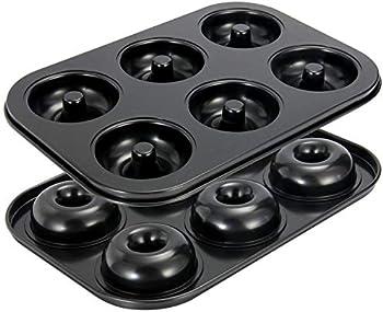 2-Pack Oamceg Non-Stick High-grade Carbon Steel Donut Pans