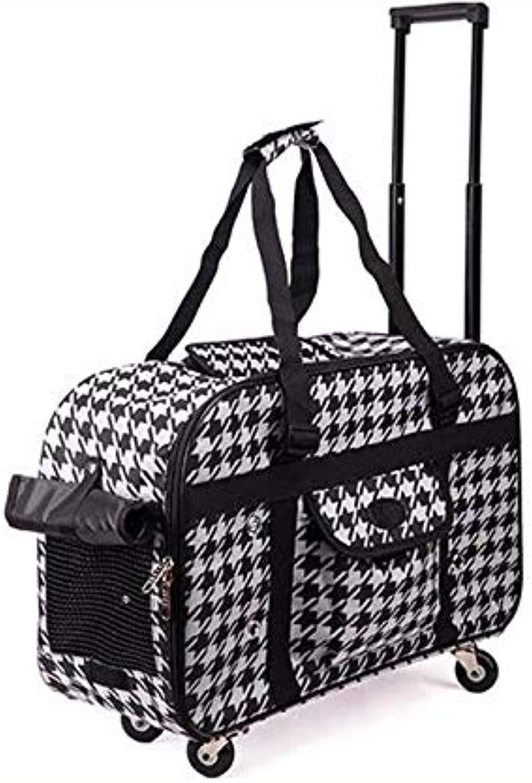 HONGSHENG Cute Pet Travel Trolley Bag Dog Cat Small Animal Backpack,1