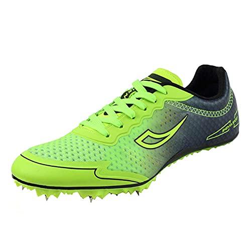 Zapatillas De Atletismo para Mujer, Zapatillas De Deporte Transpirables para Atletismo, Zapatillas De Atletismo Antideslizantes para Sprint,Verde,37 EU