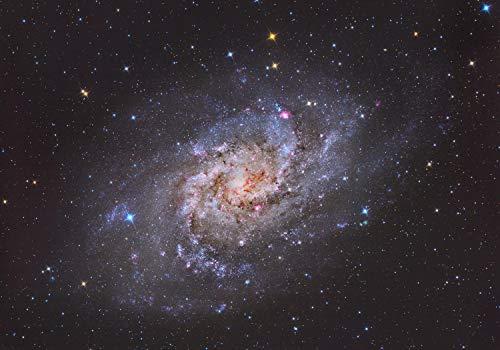 wandmotiv24 Fototapete Galaxy Universum , XXL 400 x 280 cm - 8 Teile, Fototapeten, Wandbild, Motivtapeten, Vlies-Tapeten, Sterne, Weltall M1488