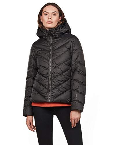 G-STAR RAW Damen Whistler Slim Down Hooded Jacke, Schwarz (dk Black 6484), (Herstellergröße:L)