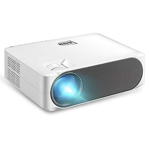 Luoshan Lin AKEY6 5.8 Pulgadas 5500 lúmenes 1920x1080P Proyector portátil HD LED con Control Remoto, Soporte de Tarjetas USB/SD/AV/VGA / RJ45