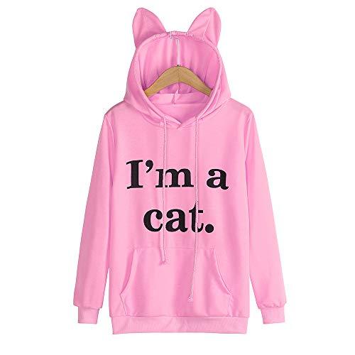 Learn More About Hatop- Women's Sweatshirt Hoodies Cute Cat Pullover Sweatshirt Long Sleeve Letter P...