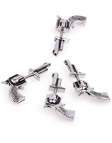 Kupfer Schraube Ohrstecker Drachen Kugel Revolver Ohrring Knorpel Helix Ohr Knochen Nagel Frauen Männer Körper Piercing Schmuck
