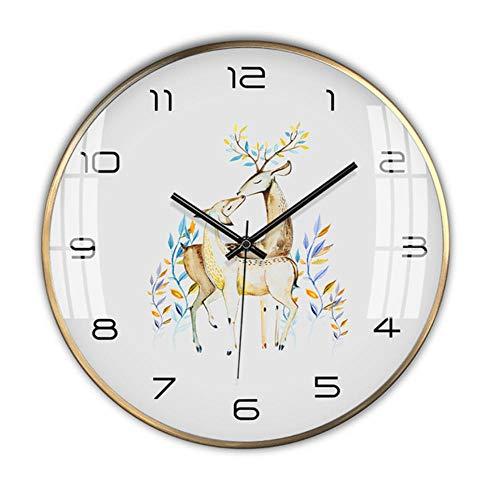 rrff Relojes De Pared Reloj De Pared Metal Oro Sala De Estar