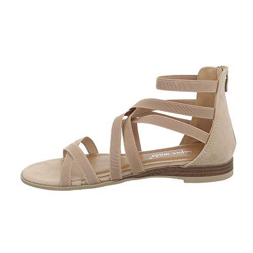 Ital-Design Damesschoenen Sandalen met riempjes
