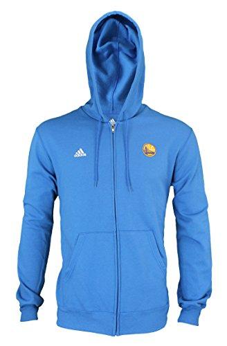 adidas Golden State Warriors Basic - Sudadera con Capucha y Cremallera para Hombre, Color Azul, Atlético, XXL, Azul