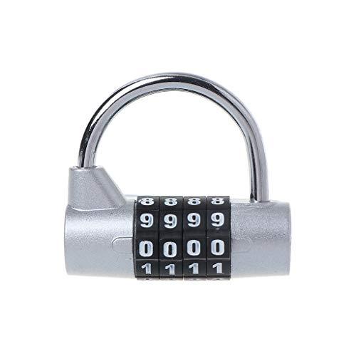 Koojawind 4 X Travel Tsa Security Padlock Reisekoffer Gep/äCkkombinationsschloss Kombi-Kombikoffer Reisekoffer Gep/äCktasche Code Lock Code Lock Schwarz