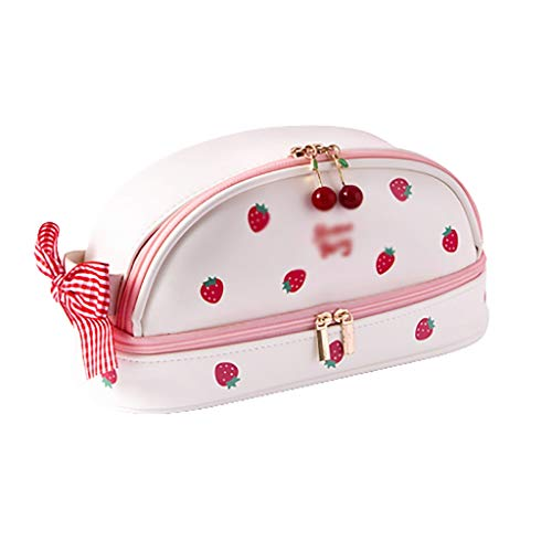 Caja exquisita La caja de lápiz grande Gran Capacidad 2 compartimentos bolsa...