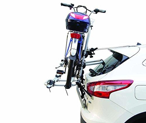 Fabbri ME15FA0747 - PORTABICI Posteriore in Alluminio Modello Bici Ok 2 ELEKTROBIKE - per 2 Biciclette ELETTRICHE