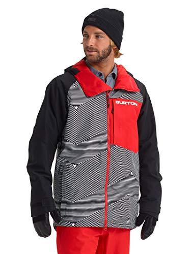 Burton Mens Gore-Tex Radial Jacket Slim, Spun Out/True Black/Flame Scarlet, Medium