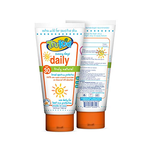 TruKid Sunny Days Daily SPF 30 Plus UVA/UVB Sunscreen Lotion, 3.5 Ounce by TruKid (English Manual)