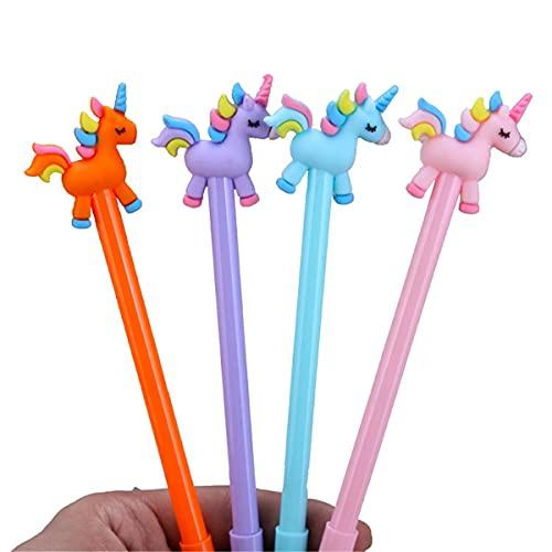 Unicornios coloridos Tipo Bolígrafo de gel Bolígrafo Kawaii Papelería Zakka Material de oficina Escolar Útiles escolares (10)