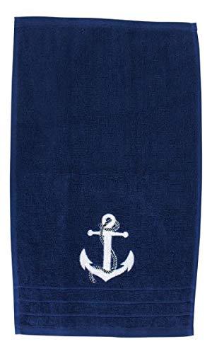 Sea-Club Gästehandtuch Anker blau Handtuch Tuch Baumwolle maritim