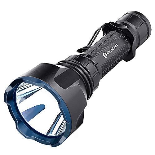 OLIGHT Warrior X Turbo LED Taschenlampe 1100 Lumen 1000 Meter Reichtweit IPX8 Wasserdicht Wiederaufladbar USB TaktischeTaschenlampe mit Pocket Clip für Outdoor Jagd Such- Rettung (Schwarz)