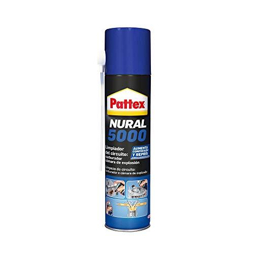 Pattex Nural 5000 Limpiador de circuito: carburador y cámara de explosión, limpia motores para economizar la gasolina y el aceite, limpiador de carburador, 1 x 300 ml