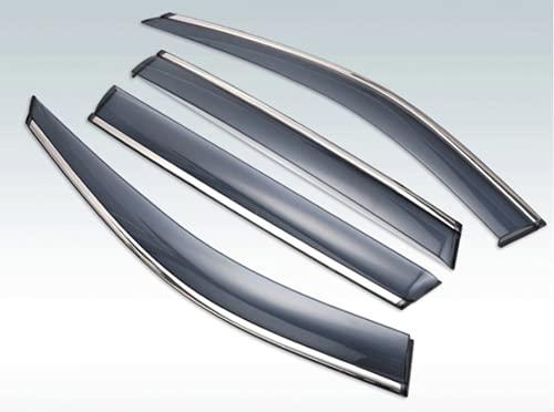 zzwllong para Nissan NV200 2009-2019 Viseras de plástico para Ventana de Coche, Visera de Lluvia, protección, Accesorios de Cala 4 Uds