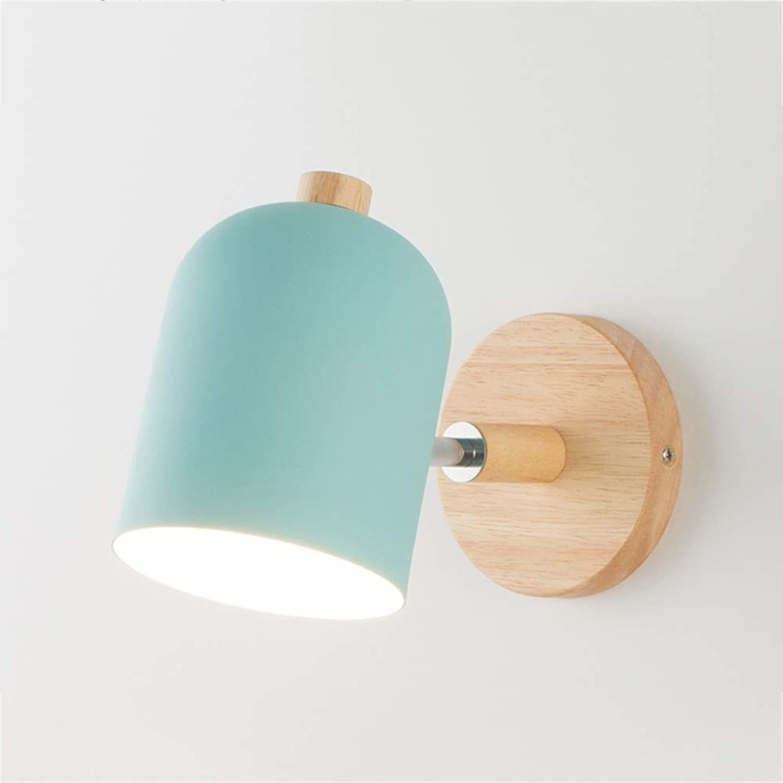 Moderne Schmiedeeisen Wandleuchte LED Wandleuchte Einstellbare Holz Wandleuchte Wei Grau Nachttisch Beleuchtung (Farbe   B)