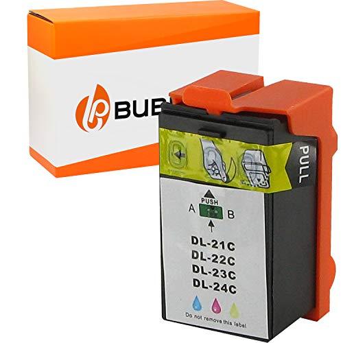 Bubprint Druckerpatrone kompatibel für Dell 21 22 23 24 592-11329 (X738N) für Dell P513w V310 Series V313 V313w Color/Farbe