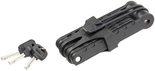 AGT Fahrradsicherung: Fahrrad- & Motorrad-Faltschloss, 3,5-mm-Stahl, 97 cm, Rahmenhalterung (Fahrrad-Schloss) - 3
