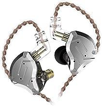 KZ ZS10 PRO 4BA+1DD Balanced Armature Dynamic High Frenquency Unit HiFi Monitor in Ear Earphones ZS10 Upgrade Version 3.5mm Plug Headphone (No Mic, Black)